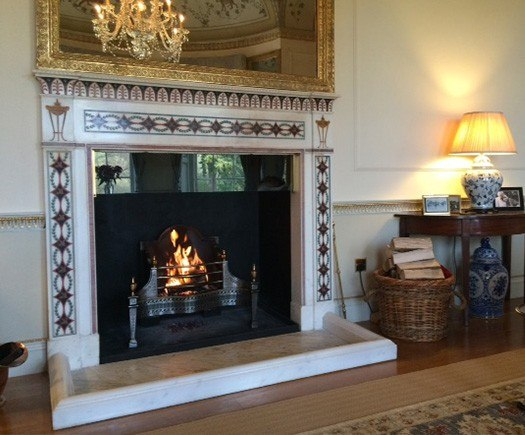restored historic fireplace