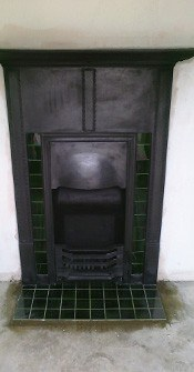 cast iron fireplace restored